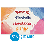 HOMEGOODS<sup>®</sup> $15 Gift Card